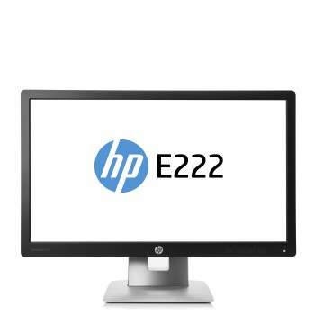 "HP EliteDisplay E222 IPS 21.5"" Noir, Argent Full HD"